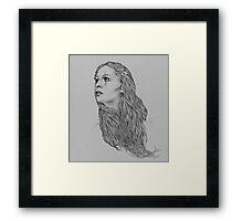 Last hope digital illustration of a young girl Framed Print