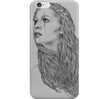 Last hope digital illustration of a young girl iPhone Case/Skin