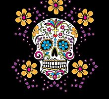 Sugar Skull Halloween, Day Of The Day by Carolina Swagger