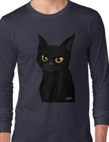 Cat in the blue Long Sleeve T-Shirt