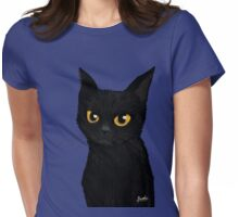 Cat in the blue Womens Fitted T-Shirt