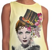 Steampunk Glamour Girl Contrast Tank