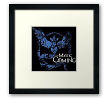Team Mystic is Coming ( GoT + Pokemon GO! ) Framed Print