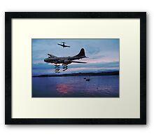 bombing run Framed Print