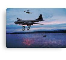 bombing run Canvas Print