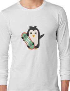 Skateboard Penguin   Long Sleeve T-Shirt