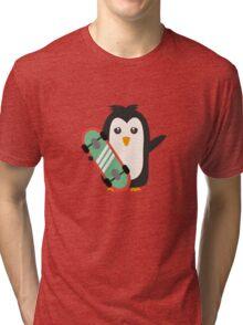 Skateboard Penguin   Tri-blend T-Shirt