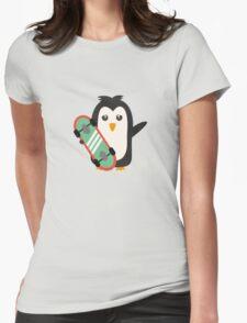 Skateboard Penguin   Womens Fitted T-Shirt