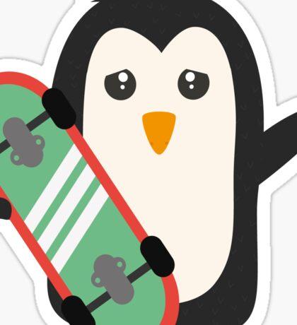 Skateboard Penguin   Sticker