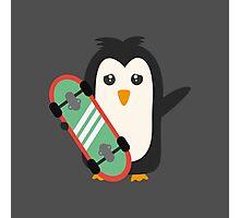 Skateboard Penguin   Photographic Print