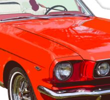 1965 Red Ford Mustang Convertible Sticker