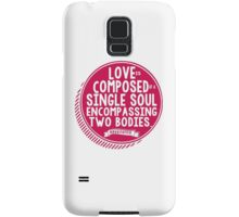Aristotle Love Quote Romantic Typography Samsung Galaxy Case/Skin
