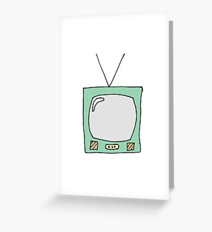 Retro TV Greeting Card