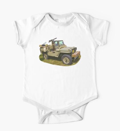 Willys World War Two Army Jeep One Piece - Short Sleeve