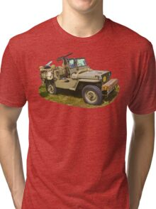 Willys World War Two Army Jeep Tri-blend T-Shirt