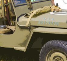 Willys World War Two Army Jeep Sticker