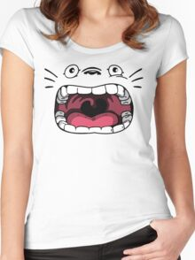 Totoro Ahhhhhh Face Women's Fitted Scoop T-Shirt