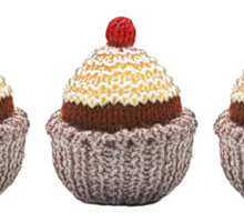 Knitted Cupcake Sticker