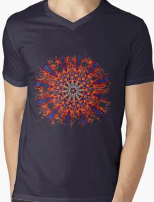 Psychedelic Splatter Mens V-Neck T-Shirt