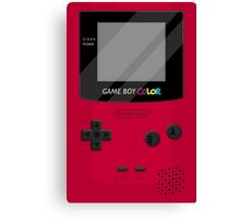 Gameboy Color 2.0 - Red Canvas Print