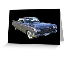 1960 Cadillac Luxury Car Greeting Card