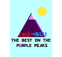 Red-Blu: The Best on the Purple Peaks Photographic Print