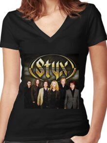 STYX BAND PERSONEL Women's Fitted V-Neck T-Shirt