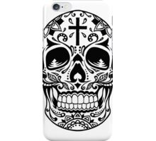 Sugar Skull, Day Of the Dead, Halloween Black SugarSkull iPhone Case/Skin