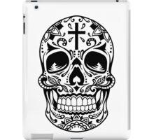Sugar Skull, Day Of the Dead, Halloween Black SugarSkull iPad Case/Skin