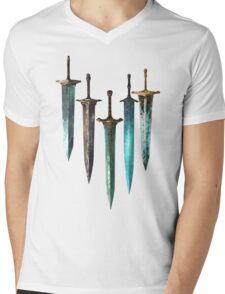 Moonlight Sword Mens V-Neck T-Shirt