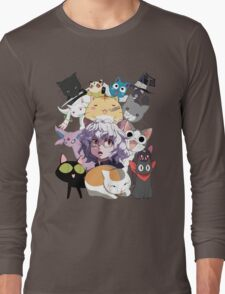 Anime Manga Cats Shirt Long Sleeve T-Shirt