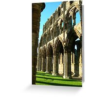 Whitby Abbey Arches Greeting Card
