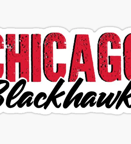 Vintage Feel Chicago Blackhawks Sticker