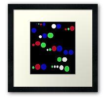 Colorful spots  Framed Print