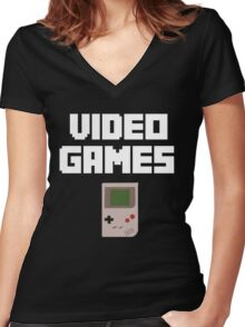 Video Games Women's Fitted V-Neck T-Shirt