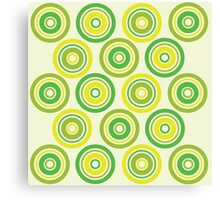 Green and yellow circles Canvas Print
