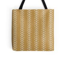Simple terracotta leaf pattern. Hand drawn seamless eco background.  Tote Bag