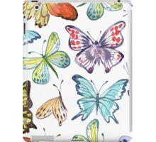 Watercolor Butterfly Pattern iPad Case/Skin