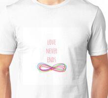 Love Never Ends (white) Unisex T-Shirt