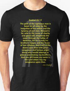 Ezekiel 25:17 Pulp Fiction Unisex T-Shirt