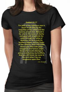 Ezekiel 25:17 Pulp Fiction Womens Fitted T-Shirt