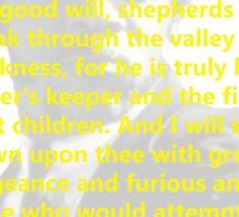 Ezekiel 25:17 Pulp Fiction Sticker