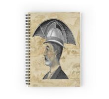 Steampunk Man Umbrella Head Spiral Notebook