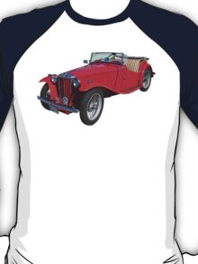 Red MG Convertible Antique Car T-Shirt
