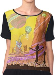 Rick and Morty Adult Swim Cartoon Chiffon Top