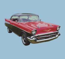 Red and Black 1957 Chevy Belair Kids Clothes