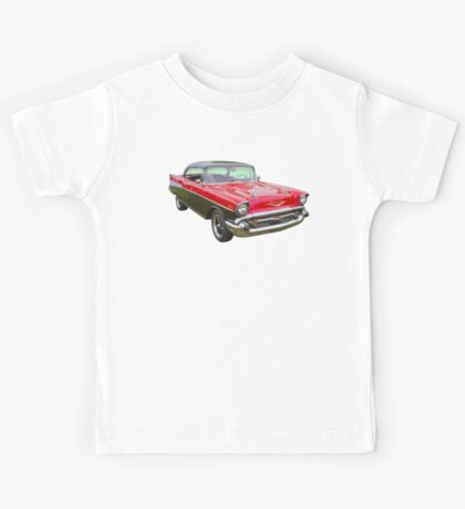 Red and Black 1957 Chevy Belair Kids Tee