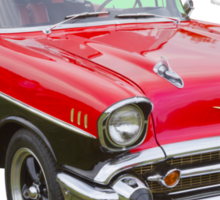 Red and Black 1957 Chevy Belair Sticker