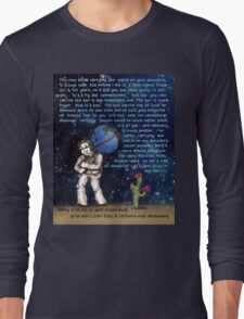 Weight of the World on His Shoulders Long Sleeve T-Shirt