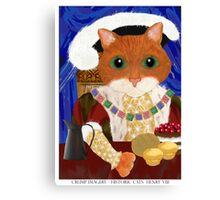 Historic Cats - Henry VIII Canvas Print
